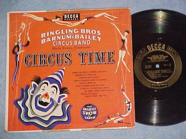 "MERLE EVANS--CIRCUS TIME--10"" NM/VG 1953 LP--Decca 5480"