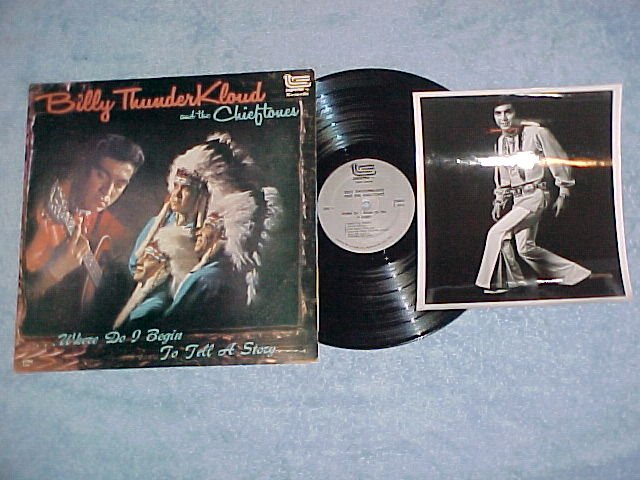 BILLY THUNDERKLOUD/CHIEFTONES-LP/Press Photo,Autographs