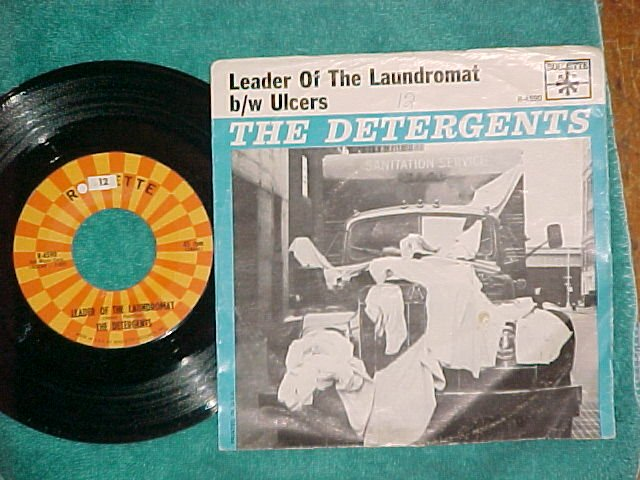 45 w/PS-THE DETERGENTS-LEADER OF THE LAUNDROMAT--VG+/VG