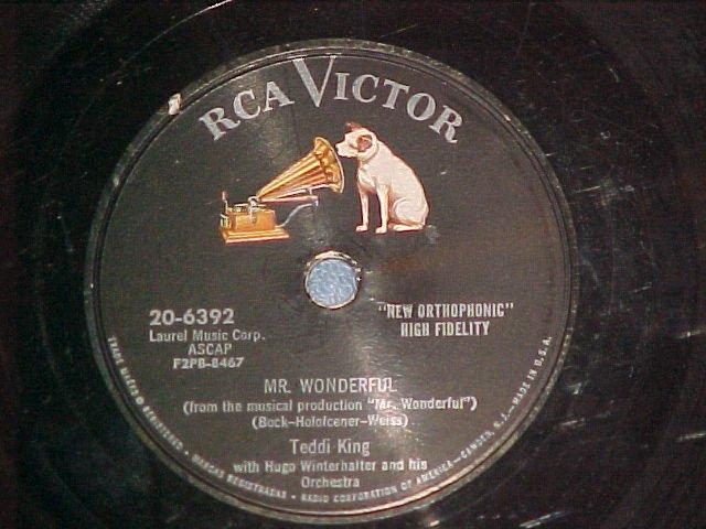 78--TEDDI KING--MR. WONDERFUL--1956--RCA Victor 20-6392
