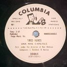 WL Promo 78-UNA MAE CARLISLE-TIRED HANDS-Columbia 38864