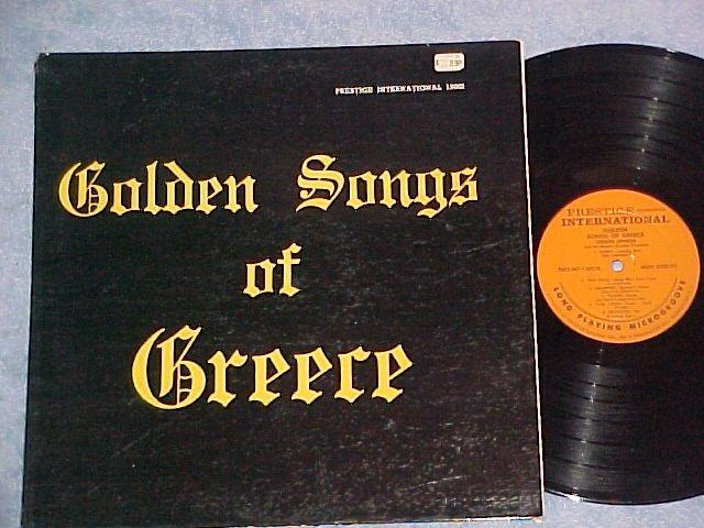 SPERO SPYROS-GOLDEN SONGS OF GREECE--NM/VG+ Prestige LP