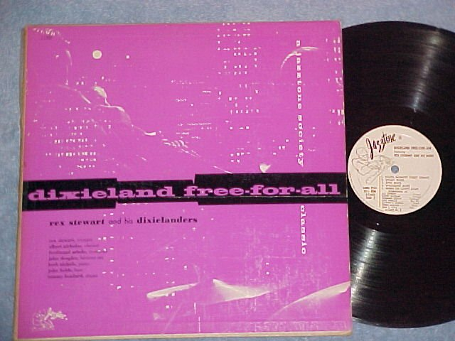 REX STEWART-DIXIELAND FREE FOR ALL-VG+ 1956 Jazztone LP