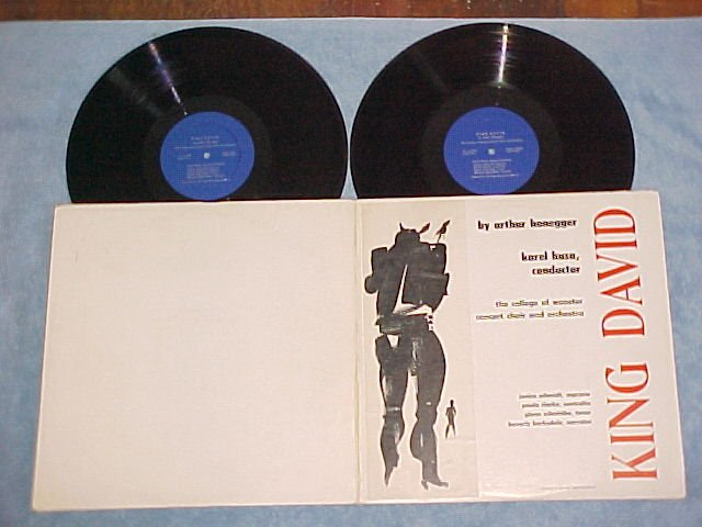 COLLEGE OF WOOSTER CHOIR & ORCH-KING DAVID-?50s? Dbl LP