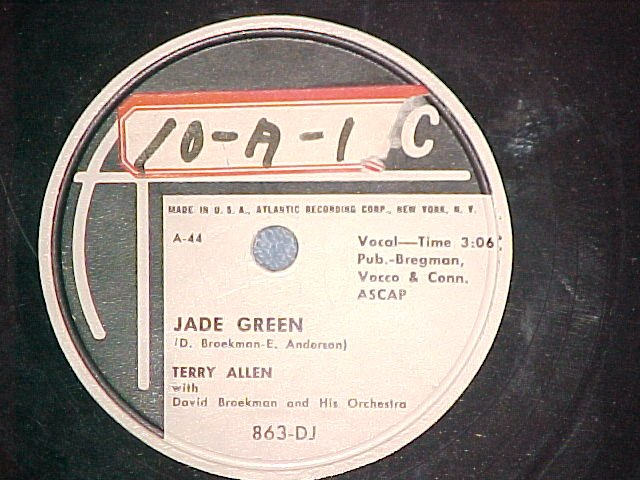 WL Promo 78-TERRY ALLEN-JADE GREEN-1948-Atlantic 863-DJ
