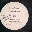 LLP (EP)--HOWARD SHAW LIVE, IN CONCERT--Autograph--VG+