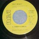 45-HOLY MOSES!!-A COWBOY'S DREAM--1971--RCA--Promo--VG+