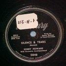 78-SONNY HOWARD-SILENCE & TEARS-1952-Mercury 5846--VG++