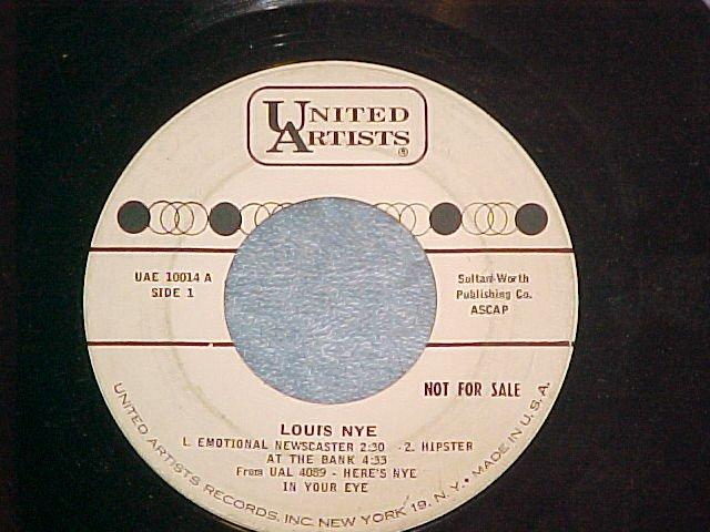 WL Promo EP--LOUIS NYE--1961--United Artists UAE-10014