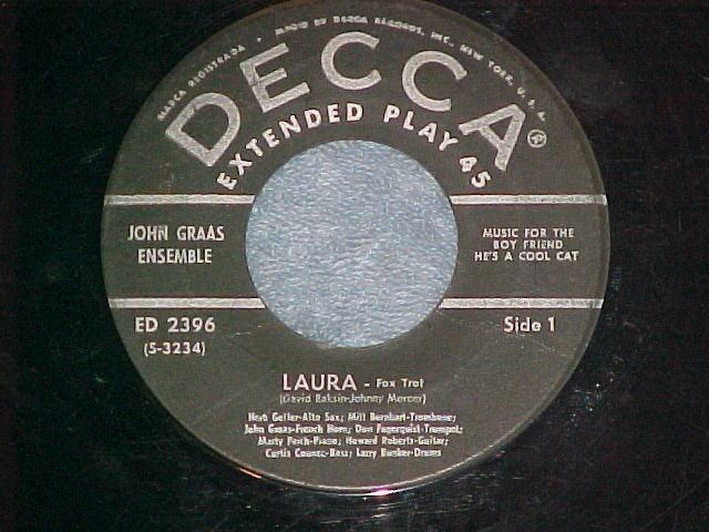 EP-JOHN GRAAS-MUSIC FOR THE BOY FRIEND-1955--Decca 2396