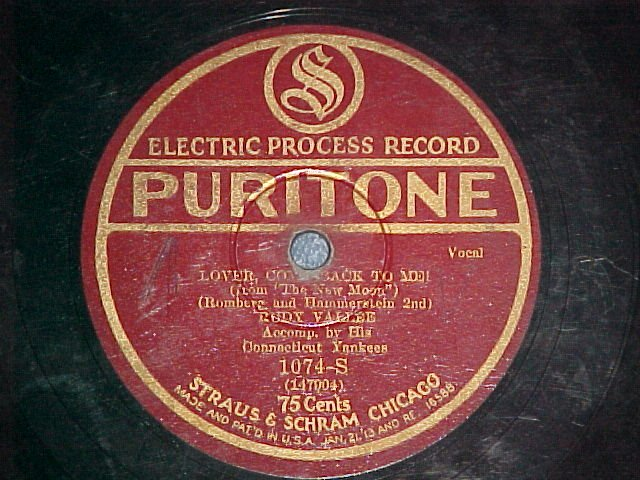 78--RUDY VALLEE/JACK MILLER--Puritone 1074-S--late 20's