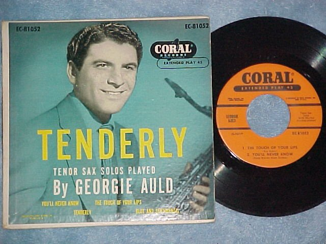 EP w/PS-GEORGIE AULD-TENDERLY--1954-Coral 81052--NM/VG+