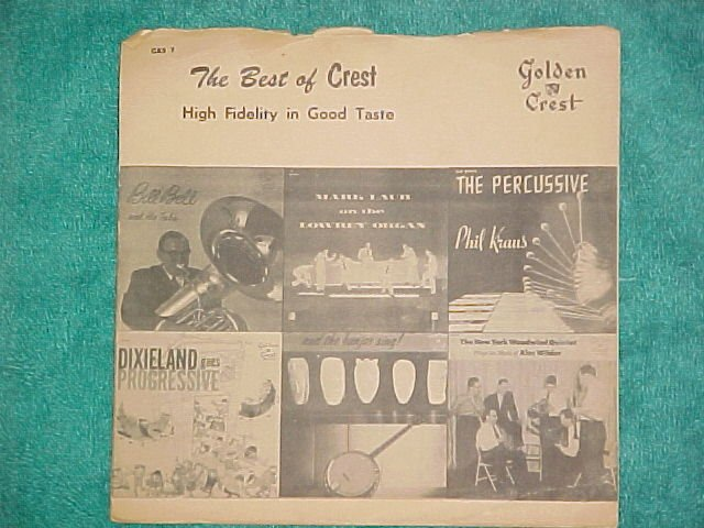 LLP/EP w/PS-THE BEST OF CREST-Golden Crest Sampler-1957