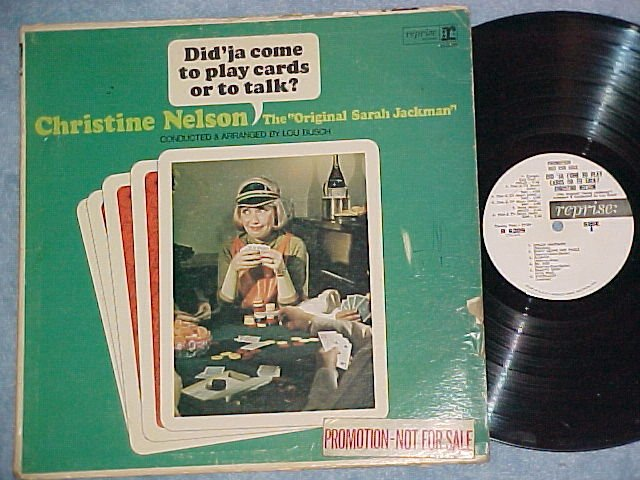 CHRISTINE NELSON-DID'JA COME TO PLAY CARDS--WL Promo LP