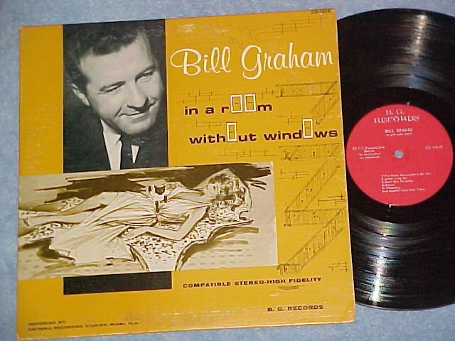 BILL GRAHAM-IN A ROOM WITHOUT WINDOWS-Private LP-Autogr