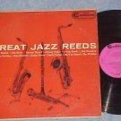 GREAT JAZZ REEDS-1958 Sax and Clarinet Cmpltn LP-Camden