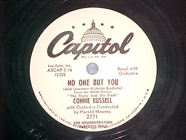 WL Promo 78--CONNIE RUSSELL--AN INNOCENT VICTIM-Capitol