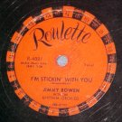 78-JIMMY BOWEN-I'M STICKIN' WITH YOU-1957-Roulette 4001