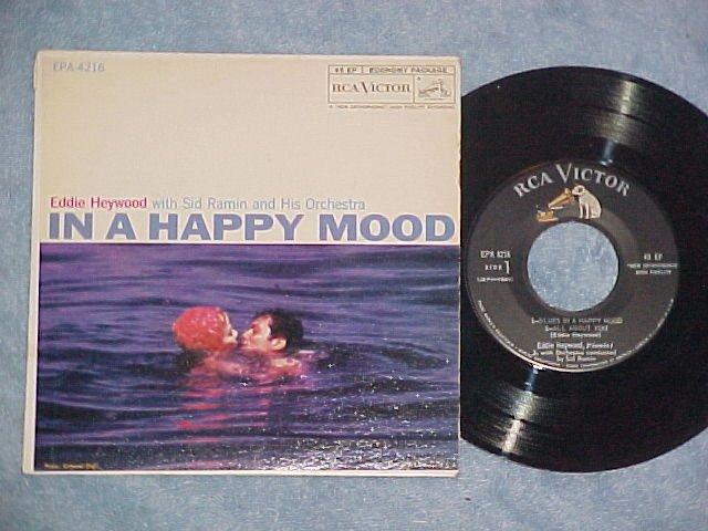 EP w/PS-EDDIE HEYWOOD/SID RAMIN-IN A HAPPY MOOD-1958-NM