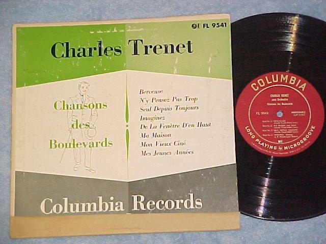 "CHARLES TRENET--CHANSONS DES BOULEVARDS--10"" 1951 LP"