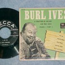 EP w/PS-BURL IVES-BALLADS AND FOLK SONGS-Vol. 1, Part 2