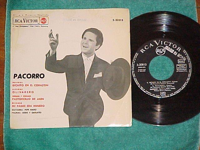Spain EP w/PS--PACORRO-1964--RCA Victor 3-20813--NM/VG+