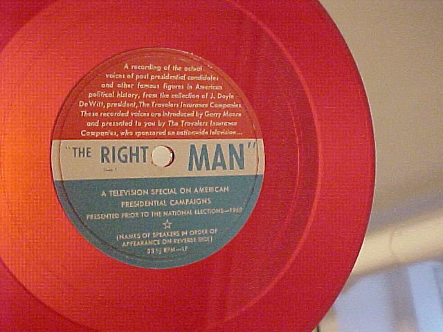 LLP/EP-THE RIGHT MAN--1960 TV Soundtrack--Red Vinyl--NM
