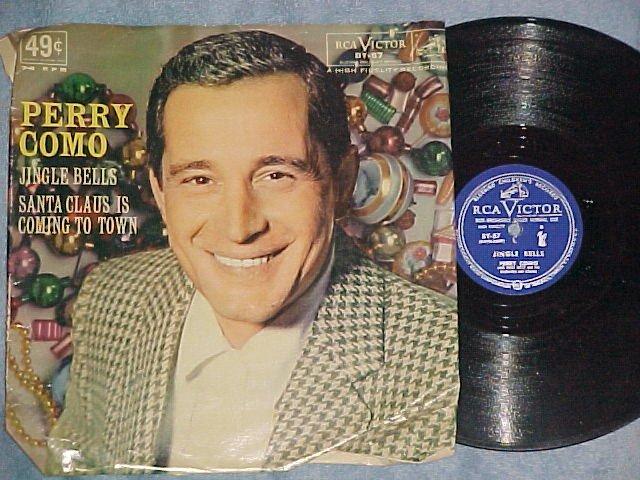 78 w/PS--PERRY COMO--JINGLE BELLS--RCA Bluebird BY-57