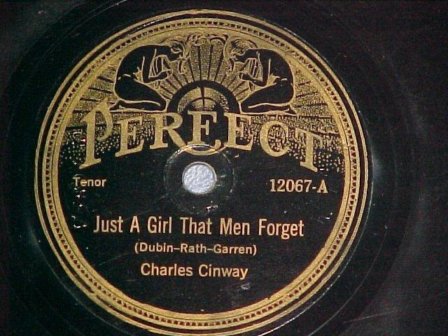 78--CHARLES CINWAY/JOHN RALPH-1923--Perfect 12067--VG+