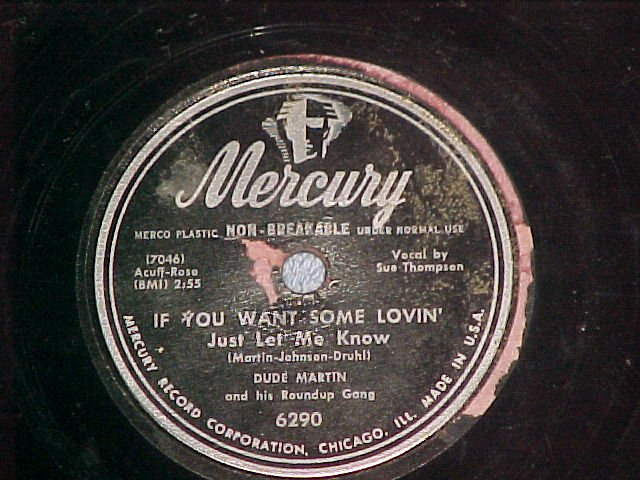 78-DUDE MARTIN-IF YOU WANT SOME LOVIN-1950-Mercury 6290