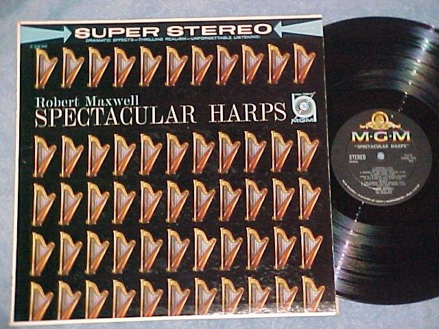 ROBERT MAXWELL-SPECTACULAR HARPS-NM/VG++ Stereo 1960 LP