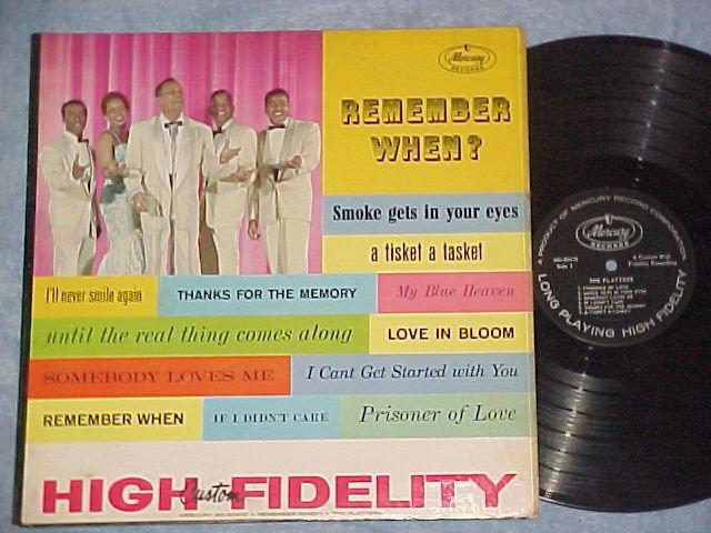THE PLATTERS--REMEMBER WHEN?--NM/VG+ Mono 1959 LP