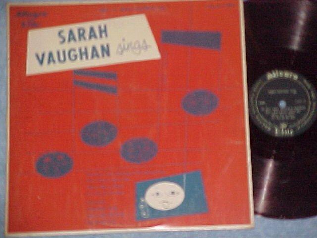 """SARAH VAUGHAN SINGS-10"""" Mid-'50's LP-Allegro Elite 4006"""