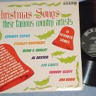 CHRISTMAS SONGS BY COUNTRY ARTISTS-VG+ 1963 LP-King 811