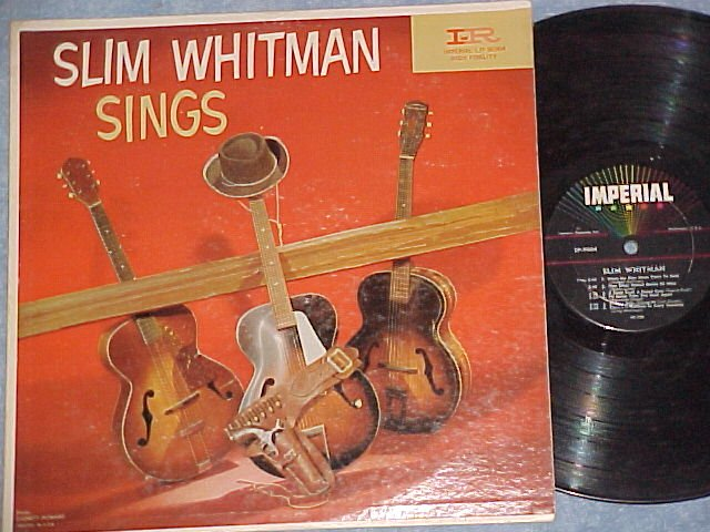 SLIM WHITMAN SINGS--VG+ 1959 LP--Imperial LP-9064