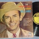 THE UNFORGETTABLE HANK WILLIAMS--1959 LP--Yellow Label