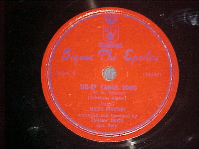 78--SIGMA PHI EPSILON--Fraternity Record--Music Masters