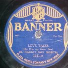 78-JOE FRANKLIN'S ORCHESTRA-LOVE TALES-1923-Banner 1241