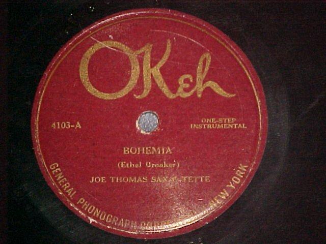 78-JOE THOMAS SAX-O-TETTE/HARRY RADERMAN-1920-Okeh 4130