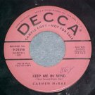 Promo 45-CARMEN McRAE-KEEP ME IN MIND-1954--Decca 29398