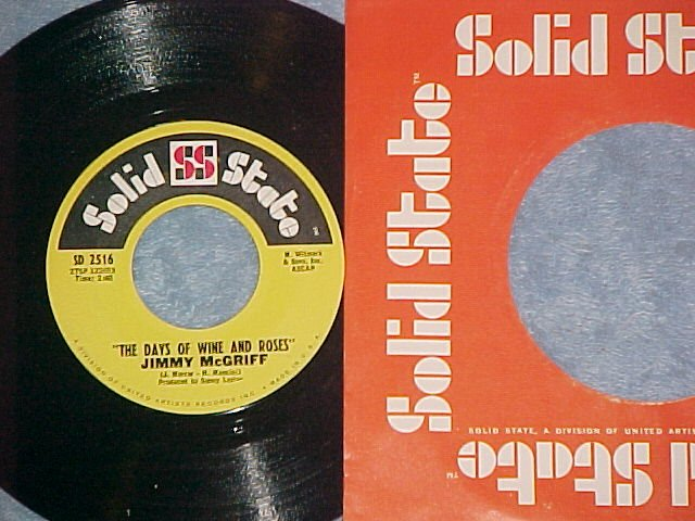 45-JIMMY McGRIFF-DAYS OF WINE AND ROSES-Solid State--NM