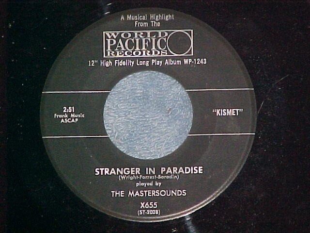 45--THE MASTERSOUNDS--STRANGER IN PARADISE--1958--VG++