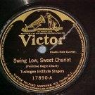 78-TUSKEGEE SINGERS-SWING LOW SWEET CHARIOT-1916-Victor