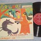 PETER AND THE WOLF-BORIS KARLOFF,narrator-NM/VG 1957 LP