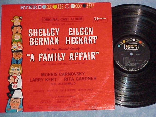 A FAMILY AFFAIR---NM/VG++ Stereo 1962 Broadway Sdk LP
