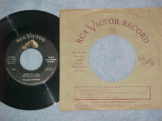 NM 45--LANE BROTHERS-BOPPIN' IN A SACK-1958--RCA Victor