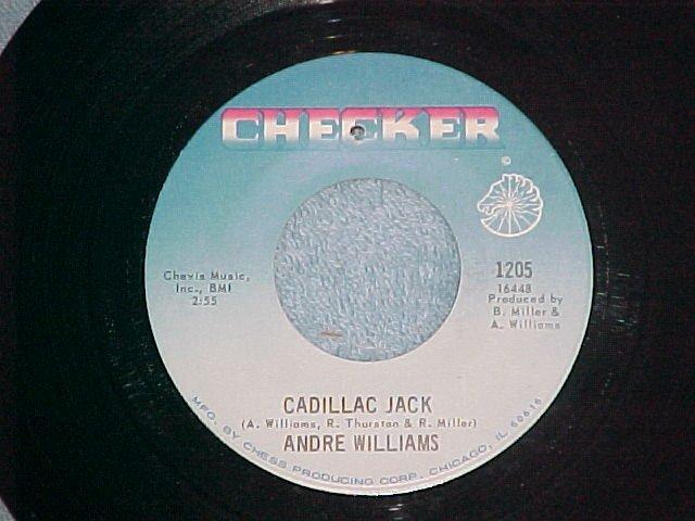 VG++ 45-ANDRE WILLIAMS-CADILLAC JACK-1968--Checker 1205