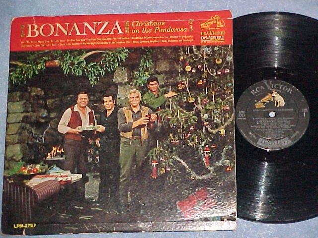 BONANZA--CHRISTMAS ON THE PONDEROSA--1963 TV Sdk LP