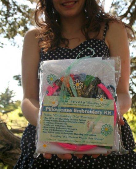 Deluxe Pillowcase Set Embroidery Kit