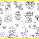 .Mad INK (tattoo) Iron on Hand Embroidery Pattern (original design)